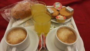ローマのB&Bの朝食