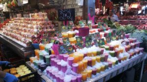 サンジョセップ市場(ボケリア)のフルーツジュース