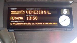 ベネティア行きの電車