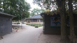 ヘルシンガーの森の中にある幼稚園