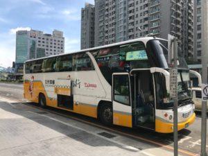私は台中干城站から台湾好行のバスに乗りました