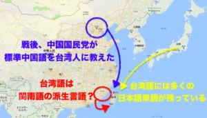 中国語と台湾語の歴史的な違い