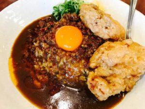 台湾カレー+唐揚げ2つ(ご飯少なめ)