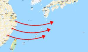 偏西風(ジェット気流)は西から東へ吹く