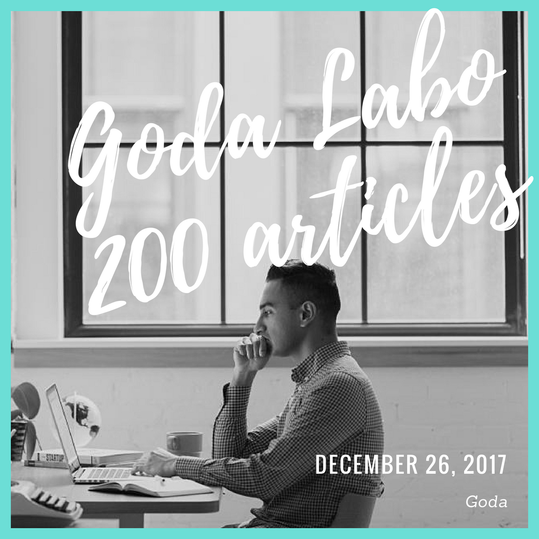 Goda Labo,200 articles