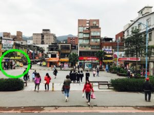 瑞芳駅の站前を出てすぐ左側にタクシー乗り場がある。