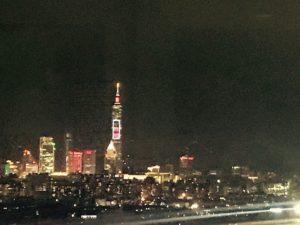 観覧車からは台北市が一望でき、101タワーも見えるよ!