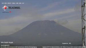 12月4日のアグン山の様子