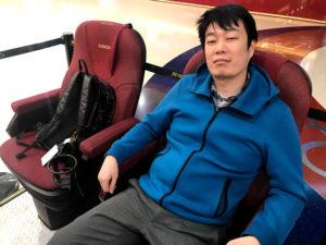 台湾の映画館の椅子