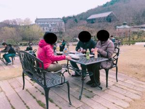 明治村でピクニックした。