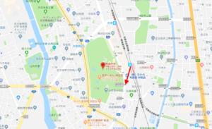 ①名鉄 神宮前駅→東門