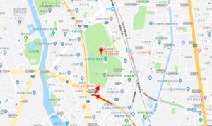 ④名古屋市営地下鉄名城線 伝馬町駅→正門(南門)
