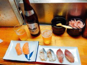立ち飲み寿司屋の「すし幸」