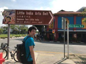 シンガポールのインド人街にて