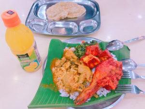 「Sri Kortumalai Pillayar Restaurant」のカレー