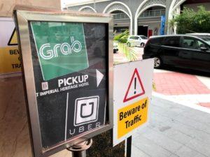マレーシアではホテルの入口にGrab乗り場があるほど