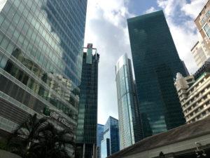 シンガポールのシティにて