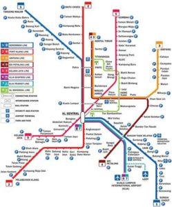 クアラルンプールの路線図