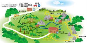 大石林山のルートマップ(公式サイトより)