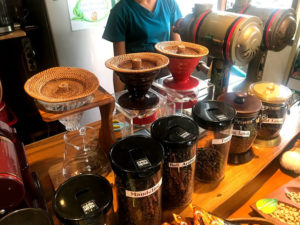 密閉されたコーヒー豆