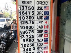 ウブドの両替所