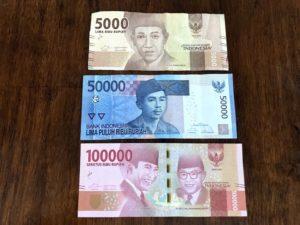 バリ(インドネシア)のお金は「ルピア」
