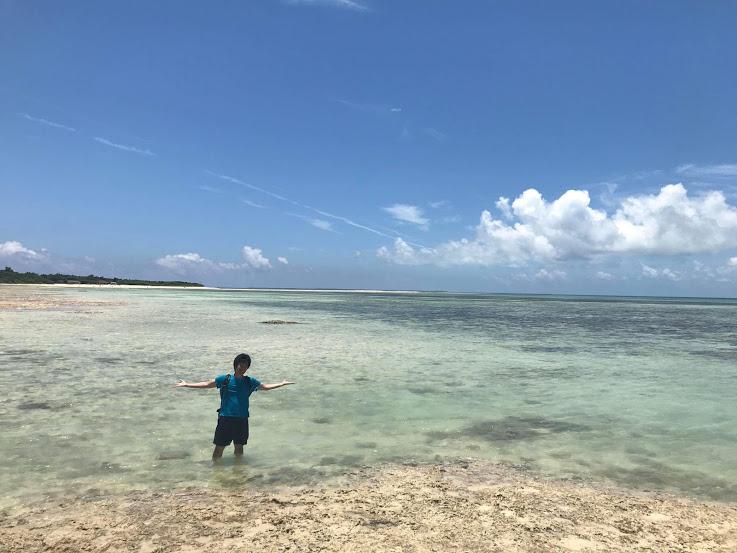 沖縄の海が見てきた中で一番綺麗!
