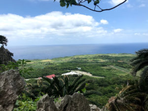 ここから鹿児島の与論島が見える。