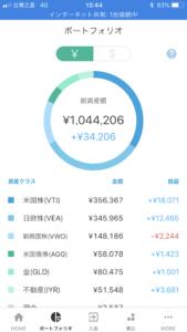 2ヶ月目の運用結果はプラス3.4万円でした