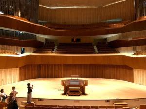 パイプオルガンのある大ホール