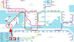 香港MTRの路線図