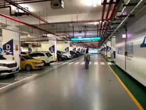 台中空港の駐車場