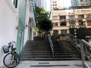 この階段を登って行く