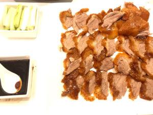 百貨店内レストランの北京ダックコース