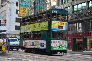 香港の街中で見かける広東語表示。文字にすると中国語と変わらないが、会話はできない。