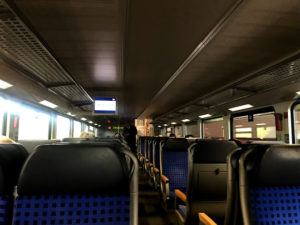 DB(ドイツ国鉄)の車内