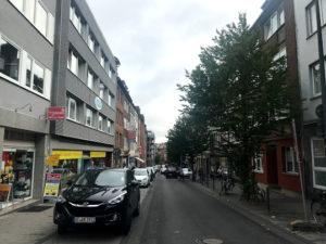 アーヘン駅周辺の街並み
