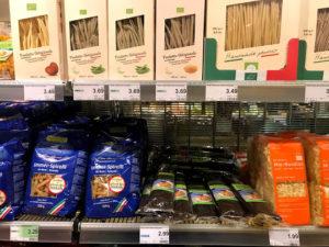 ドイツのスーパーのパスタ