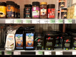 ドイツのスーパーのコーヒー