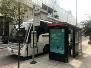 ロンドンのバス乗り場