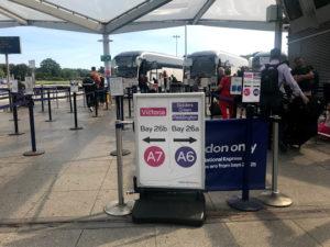 ③バス乗り場に着いたら、自分のバスの列にならぶ