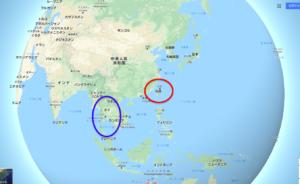 タイと台湾の場所
