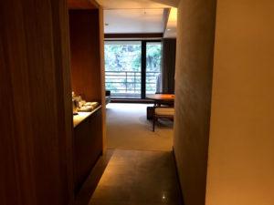 太魯閣晶英酒店(シルクスプレイス)のお部屋の入口