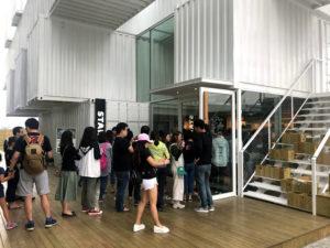 台湾花蓮のコンテナスタバ店舗入口