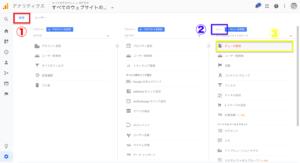管理→ビュー→ビューの設定