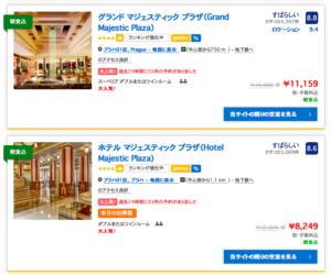 Booking.comでプラハのホテルを調べてみた。やっぱり安い。