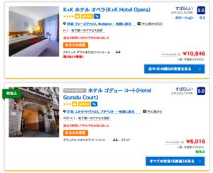 Booking.comでブダペストのホテルを調べてみた。プラハより安いかも。