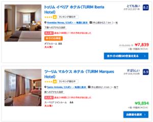 Booking.comでリスボンのホテルを調べてみた。