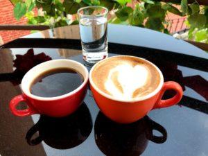 コーヒーをいただく