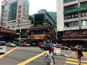 中華っぽい雰囲気いっぱいのマレーシアの街並み